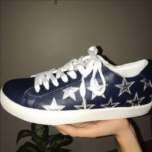 Diane Gilman navy w/ silver stars sneakers